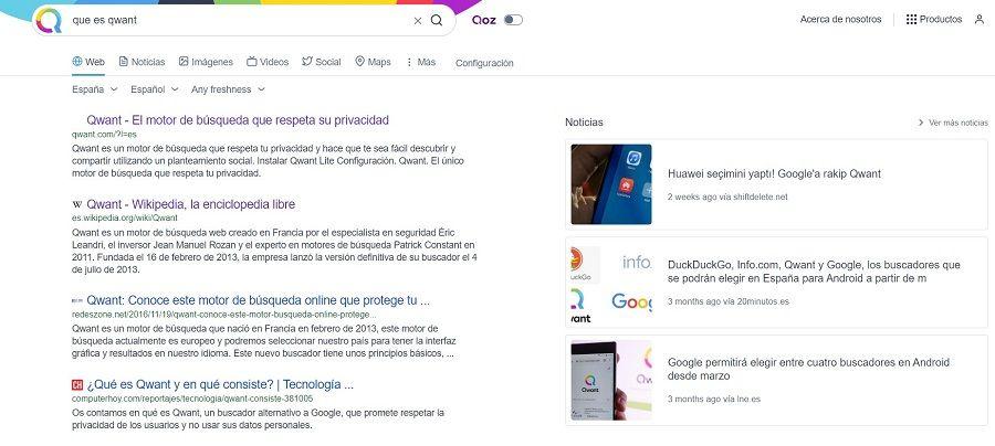 motor de búsqueda QWANT