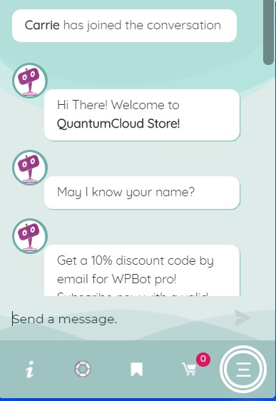 chatbot for woocomerce wordpress