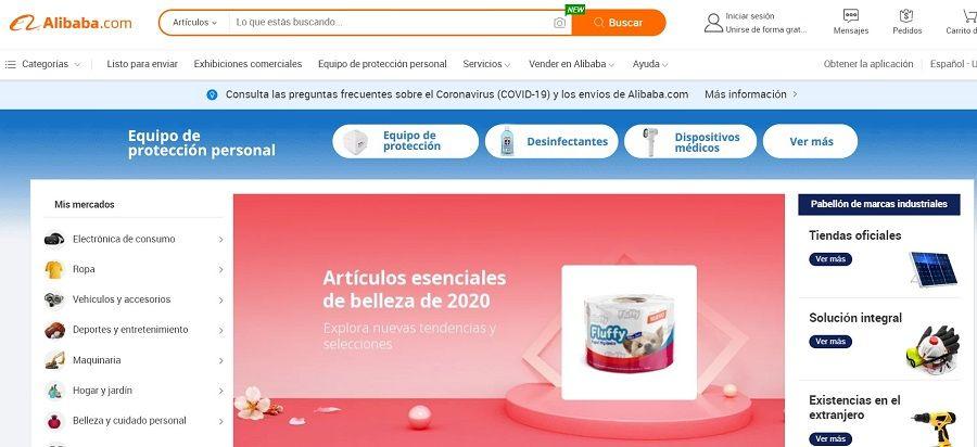 alibaba tienda online