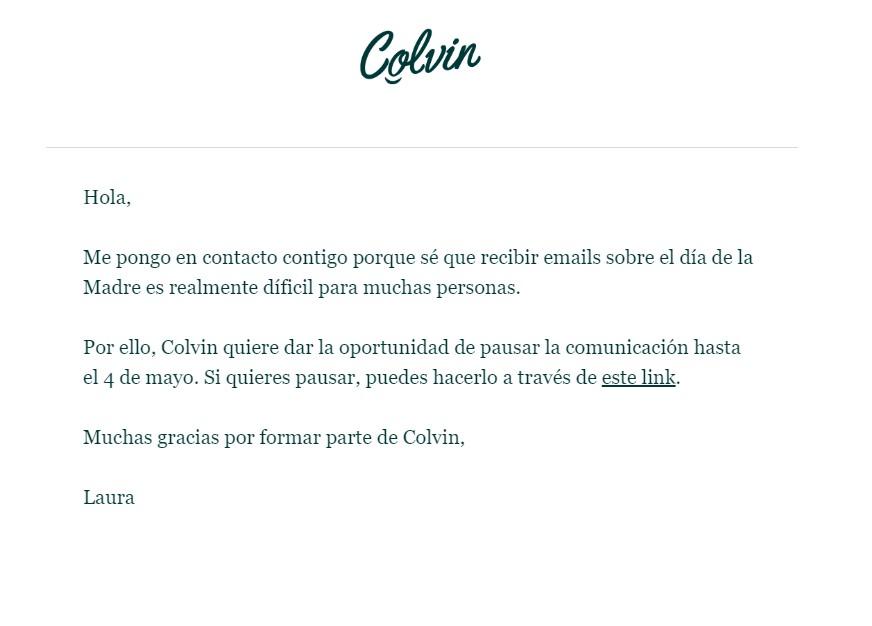 marketing y comunicación Colvin