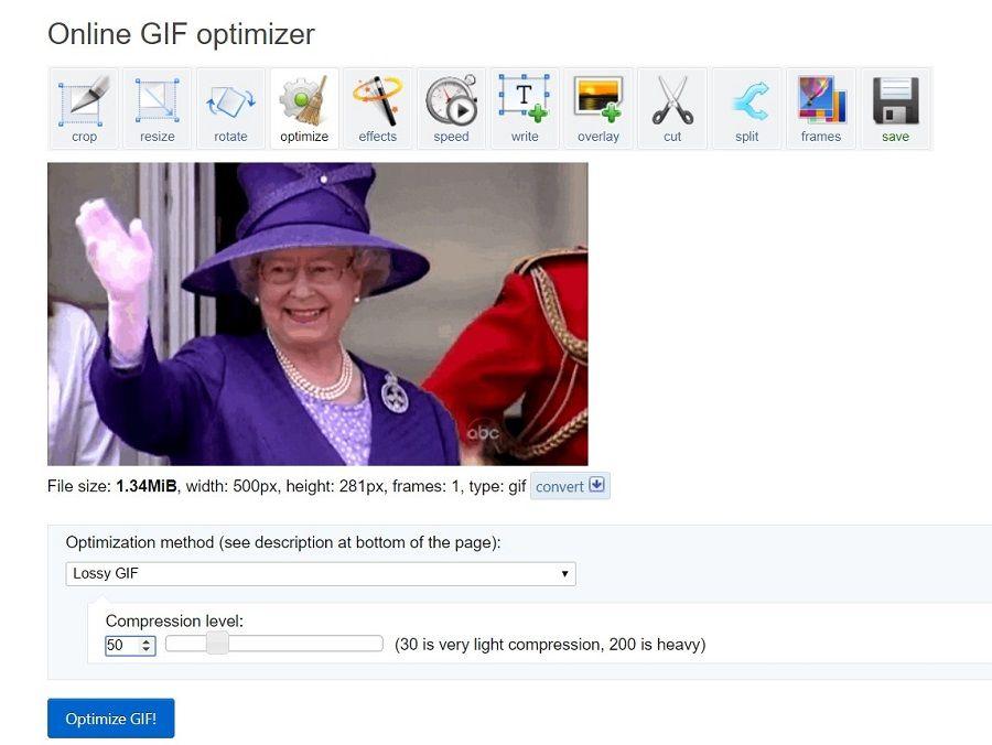 reducir tamaño gif online