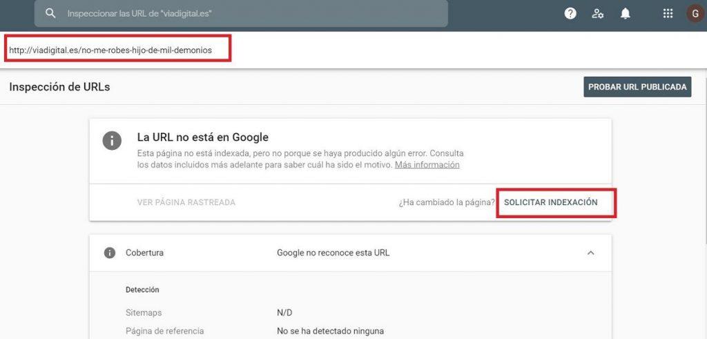 robo de contenido evitar search console