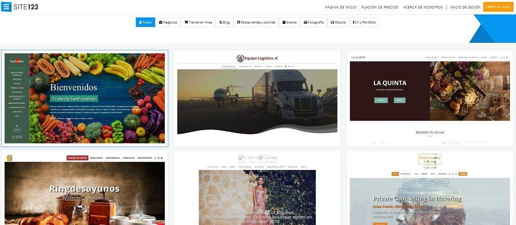 hacer blog gratis site123