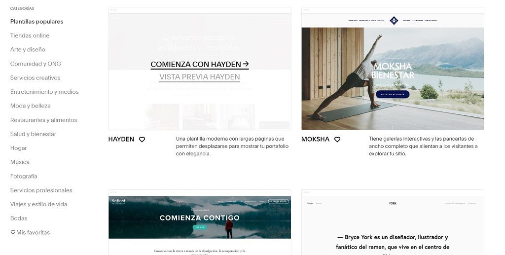 squarespace crear blog