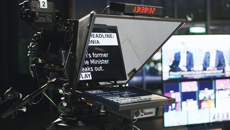 telepronter presentador noticias