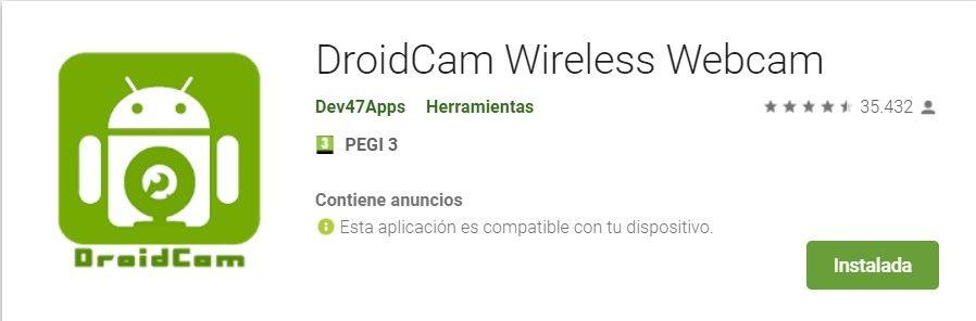 usar el móvil como webcam