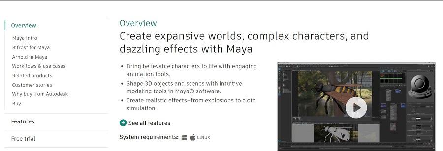 vídeos animados autodesk maya