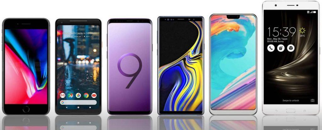 comparación móviles siete pulgadas