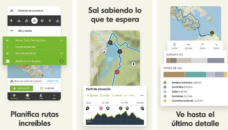 app ciclismo komoot