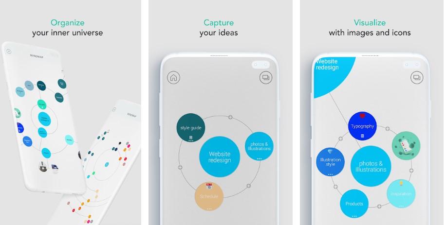 mindly app esquemas mapas mentales