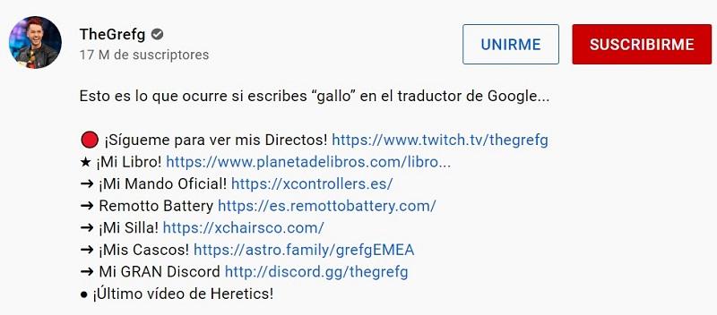 vender en Youtube