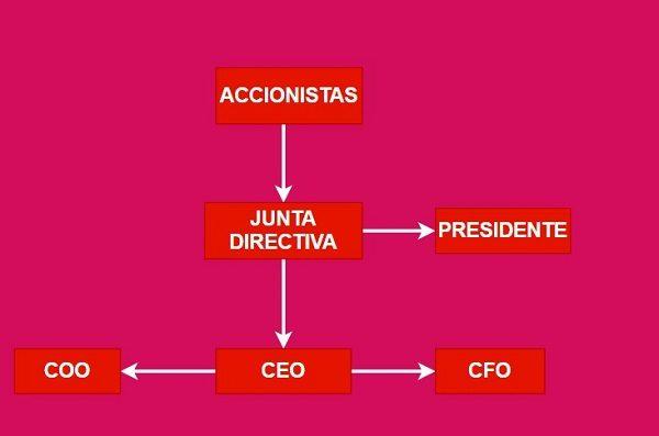 organigrama CEO